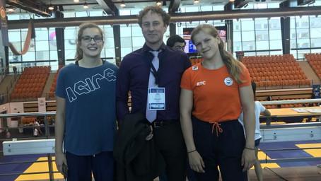 Judo-dames Irene en Esmé op European Cup Cadets in Coimbra
