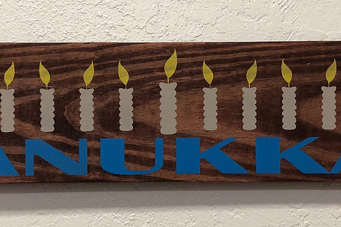 Happy Hanukkah Candles