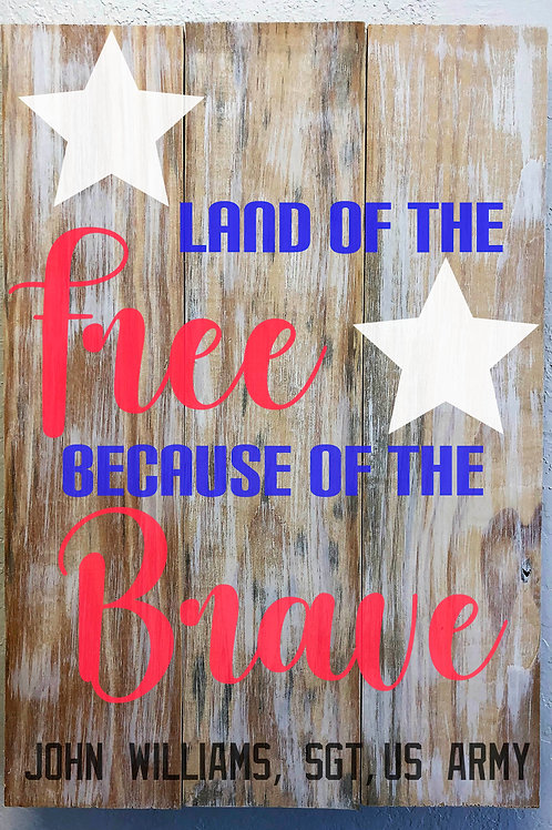 Land of the Free - Custom with name