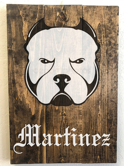 Bully / Pit Bull - Custom with name