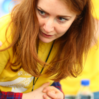 Dr Amberley Stephens at Cambridge Science Festival
