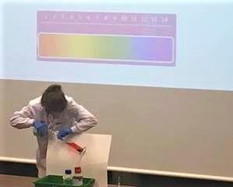 Dr Amberley Stephens at the Cambridge Science Festival