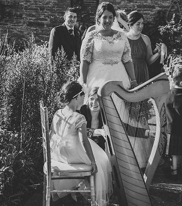 flowergirl clarsach harp wedding