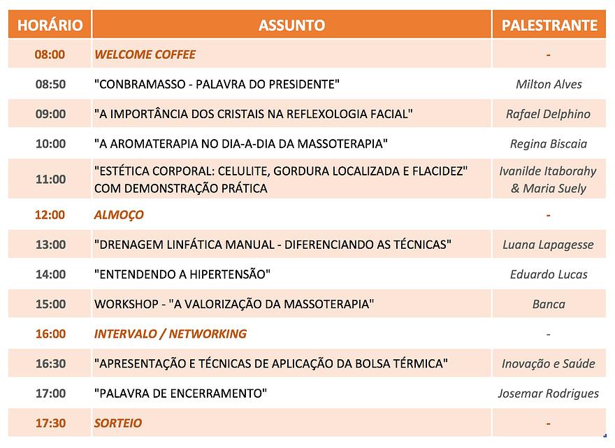 Programação Rio Masso 2016
