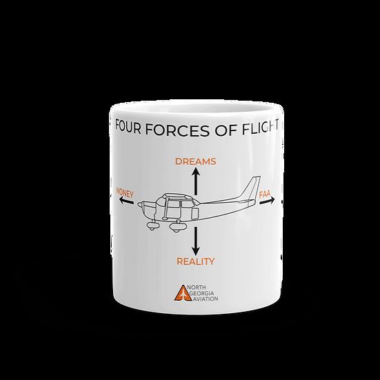 Four Forces of Flight Mug