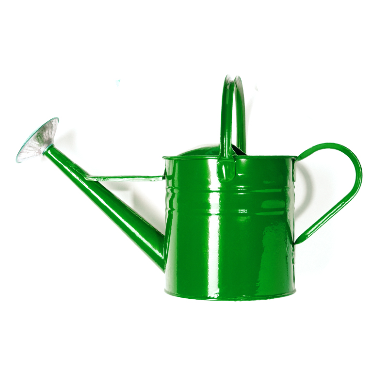 Green Tin Watering Can