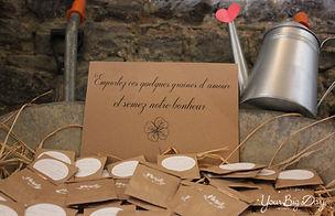 Remerciements de mariage pour invités thème champêtre granes à planter sacht kraft par Your Big Day