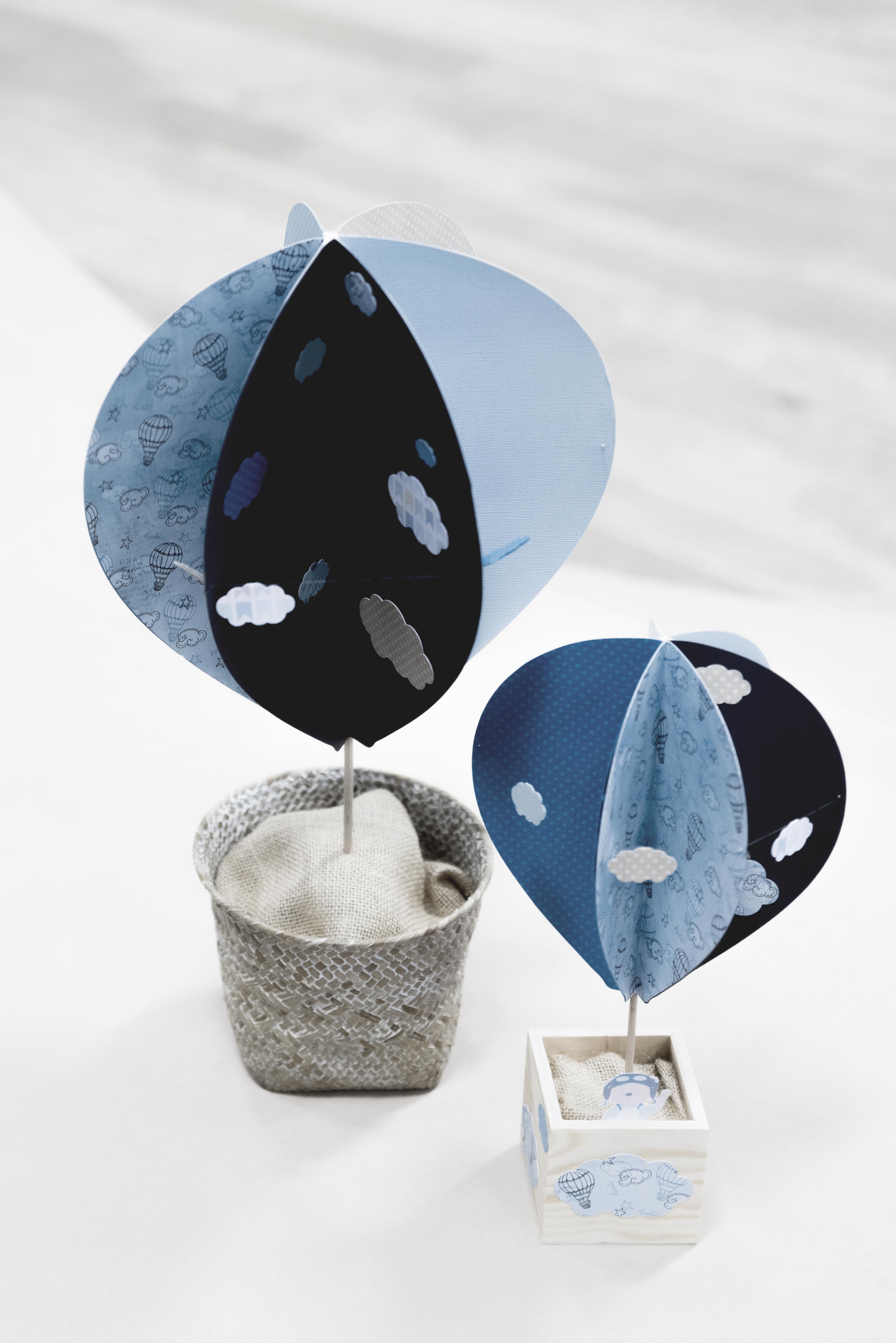 Montgolfières en papier