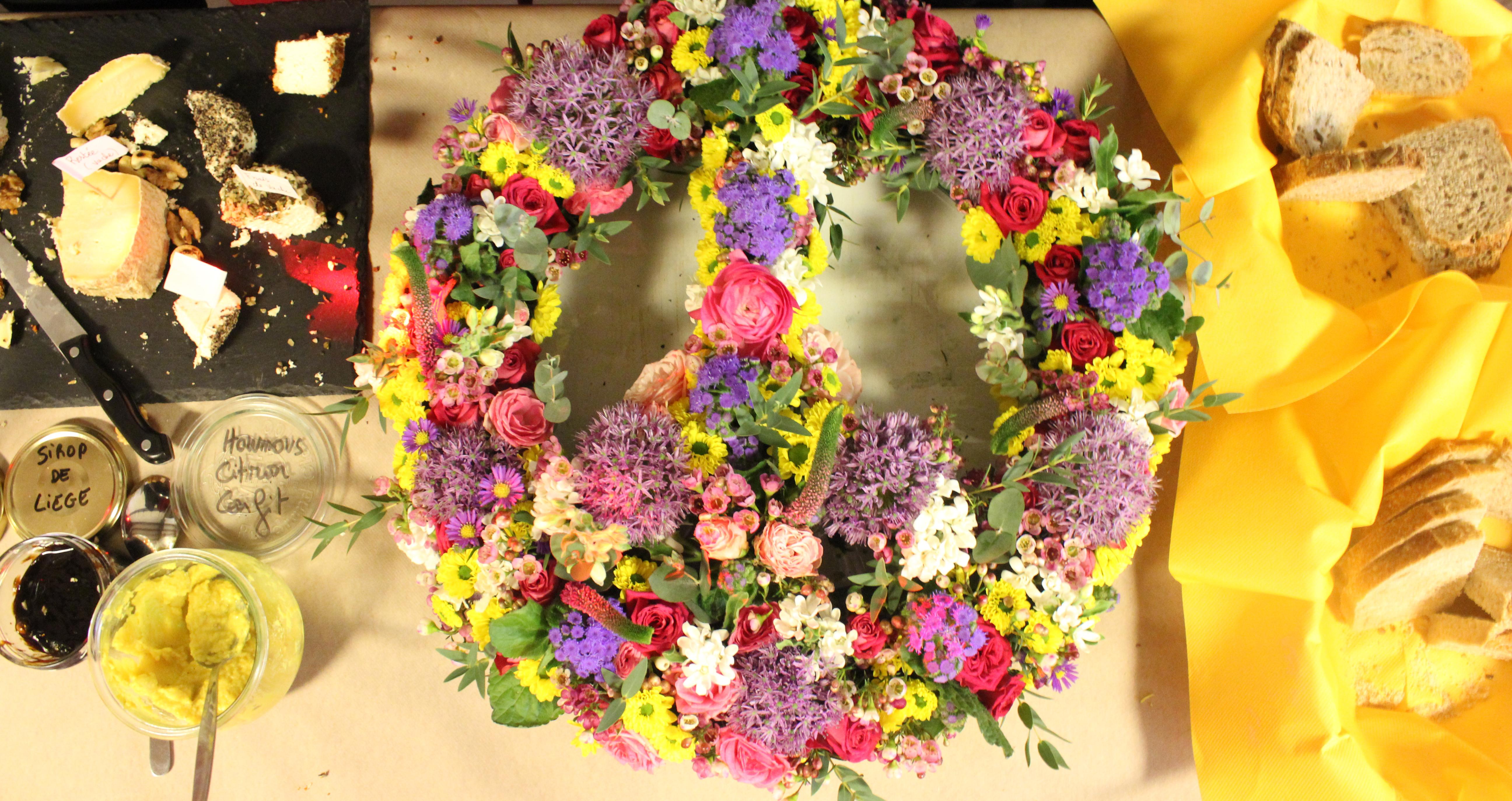 Peace en fleurs - soirée hippie