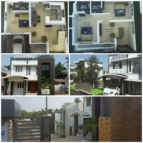 3 BHK 1470 sqft Villa - Cusat