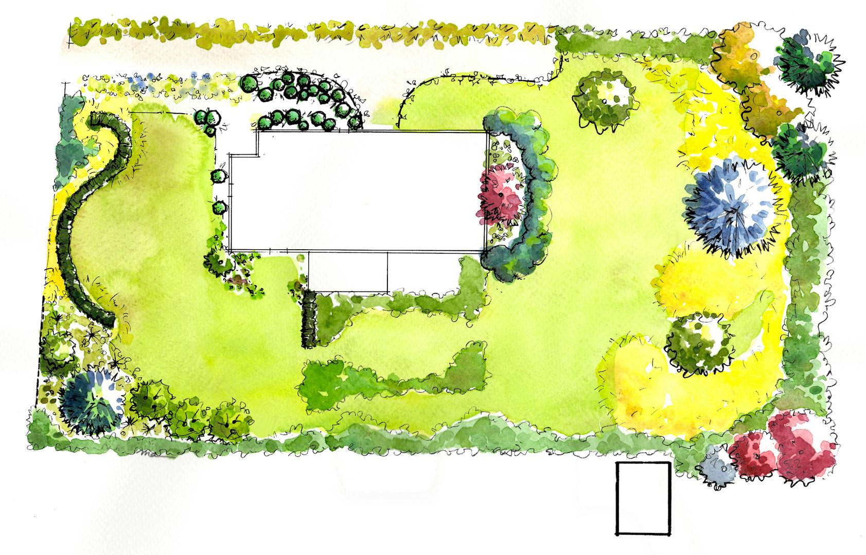 Aménagement du jardin existant - 5000 m2