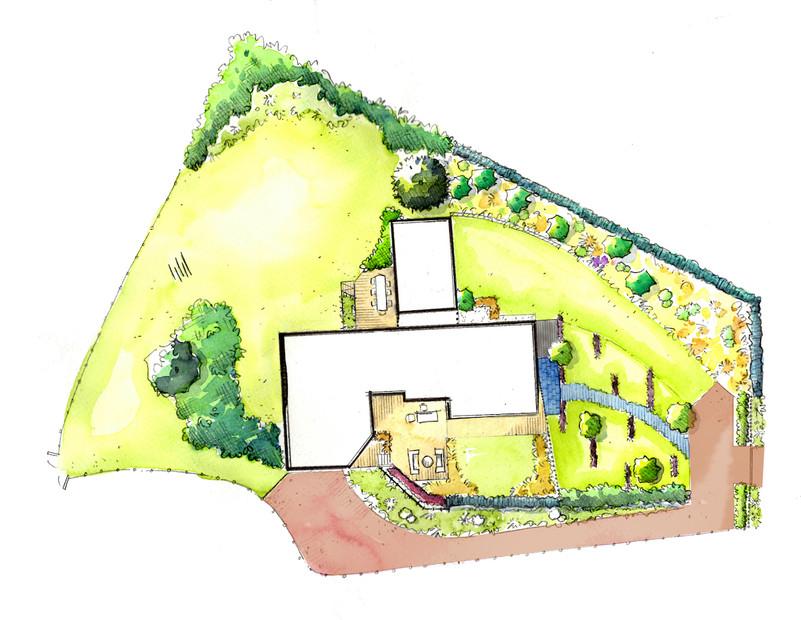 Création de jardin - 5000 m2 près de Cae