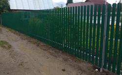 Забор монтаж из профнастила и металлоштакетника в Тюмени. Разуменые цены.
