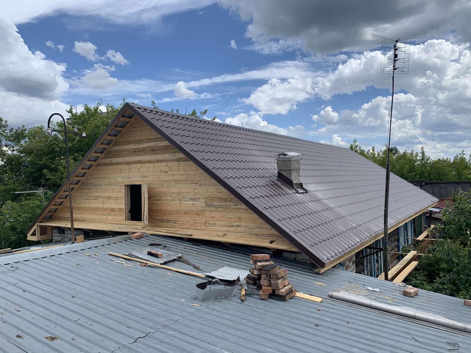 Строительство новой крыши в п.боровский