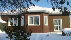 Фасад, водостоки, снегозадержатели
