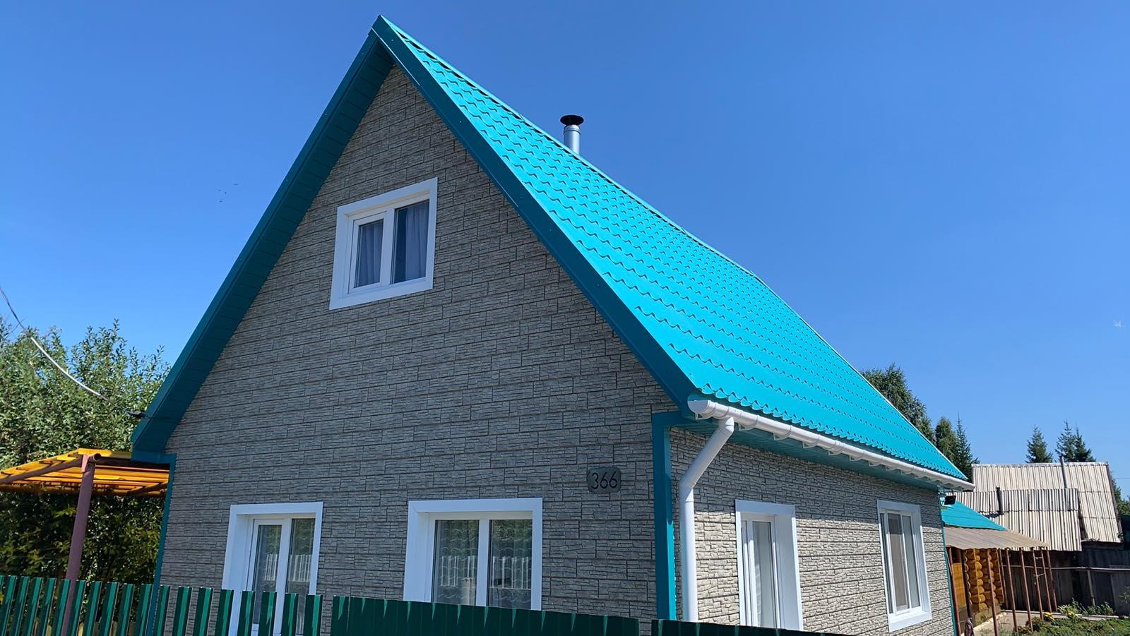 Фасад. Фасадные панели Стоун хаус-сланец светло серый
