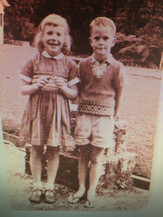 Becky and her brother at boarding school