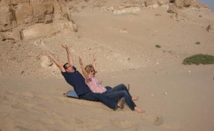 Having fun in the Kuwait Desert