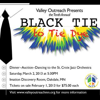 VALLEY OUTREACH BLACK TIE TO TIE DIE