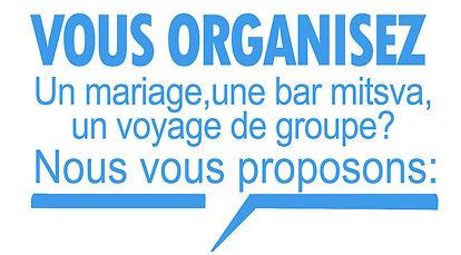 oragnisation mariage bar mitsva groupe israel