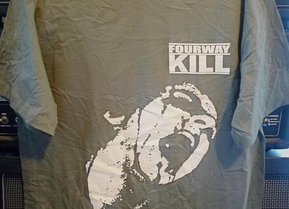 FOURWAYKILL - METALHEAD KHAKI TEE