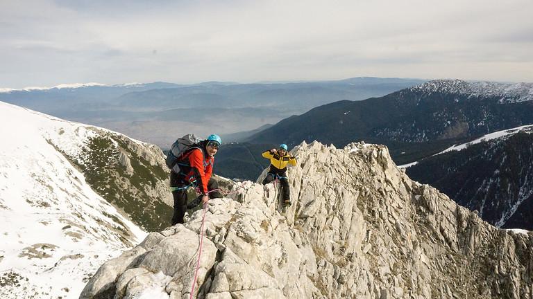 Зимно изкачване на връх Вихрен през Джамджиев ръб