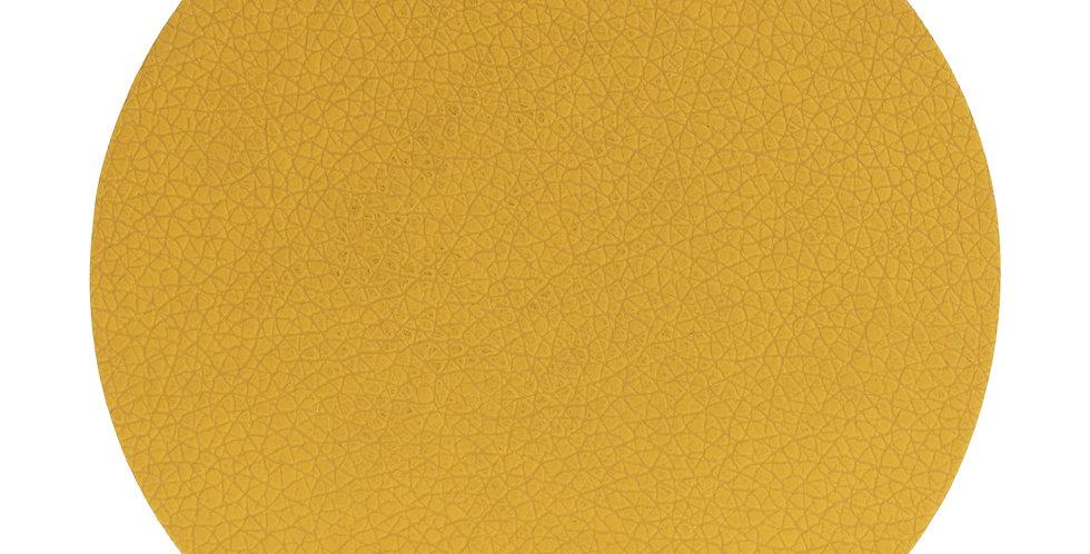 Secret de Gourmet Onderlegger glas Lederlook X6 geel