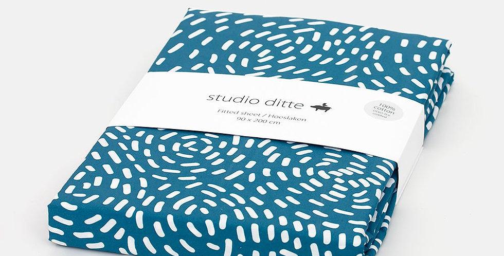 Studio Ditte Hoeslaken Flow Blauw