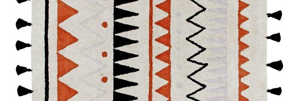 Lorena Canals Machinewasbaar tapijt Azteca Natural Terracota