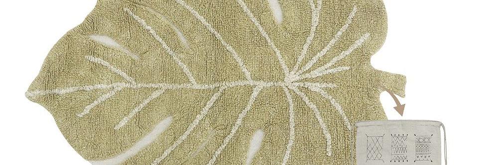 Lorena Canals Machinewasbaar tapijt Mini Monstera Olive