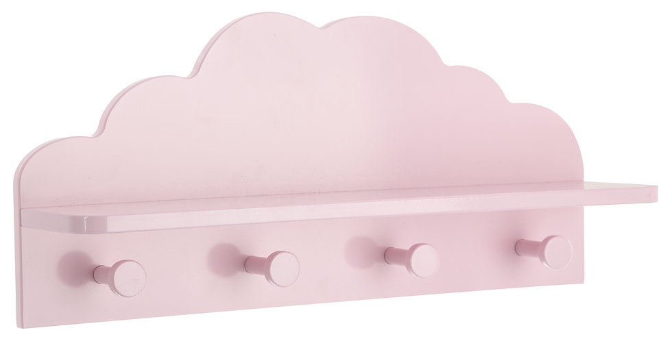 Atmosphera Kids kapstok met plankje roze