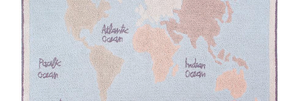 Lorena Canals Machinewasbaar tapijt World Map