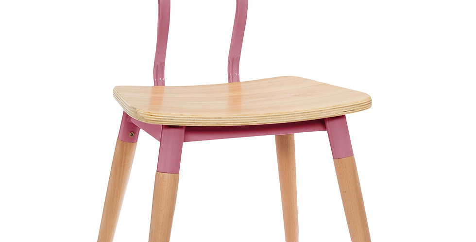 Atmosphera Kids Vintage stoel beukenhout roze