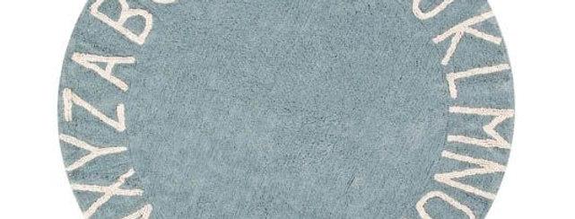 Lorena Canals Machinewasbaar tapijt ABC Vintage Blue-Natural