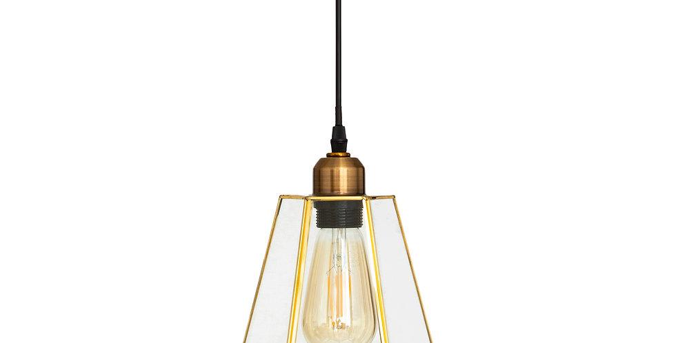 Atmosphera Hanglamp goudkleurig glas