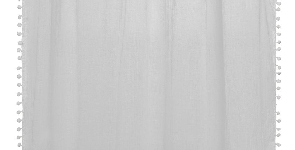 Atmosphera kids Gordijnen 140' x 240'Pom pom grijs