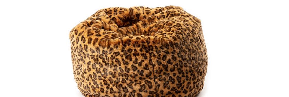 Wild & Soft Zitzak Luipaard Poef