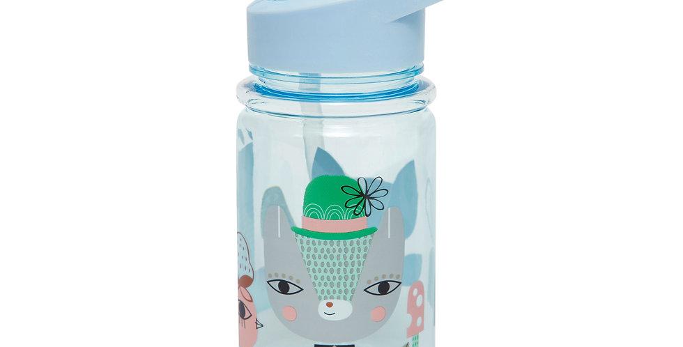 Petit Monkey drinkfles Lama en vriendjes - Drinkbus - Kinderfles - Blauw