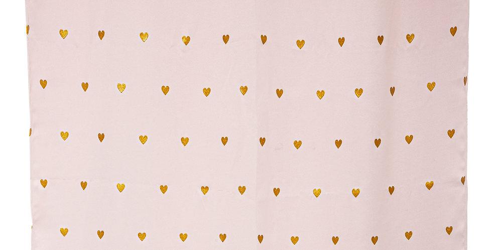 Atmosphera kids Gordijnen 140' x 260' Glitter hartjes roze
