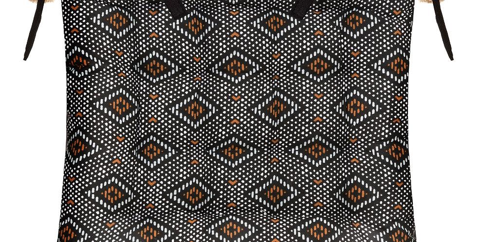 Atmosphera Stoelkussen Safari 40'X40'zwart