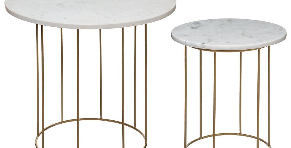 Atmosphera Bijzettafel marble set van 2