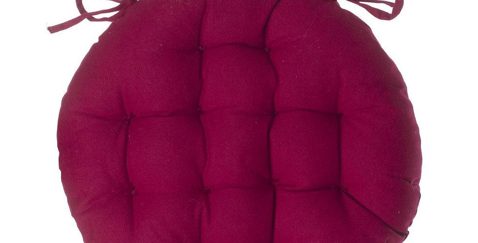 Atmosphera Stoelkussen rond 38' donker roze