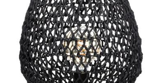 Atmosphera Gewoven Lamp Etel Zwart