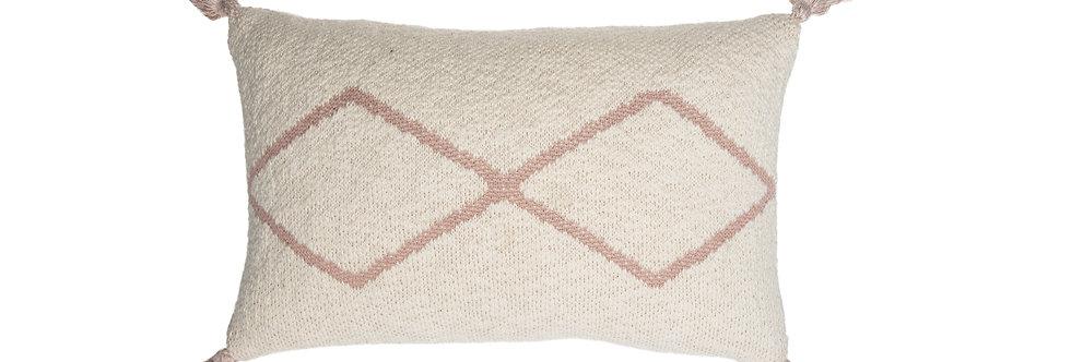 Lorena Canals Sierkussen Knitted Oasis Nat-Pale pink