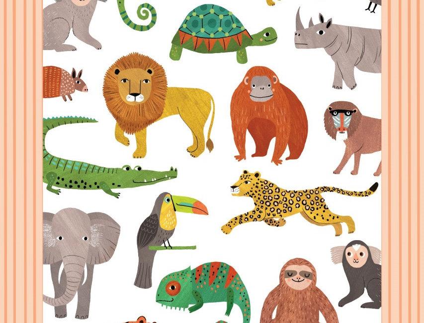 Petit Monkey Tattoos jungle dieren - 2 vellen - Dieren - Plaktattoo -