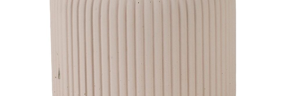 Cosy & Trendy Bloempot Vertical Lines Creme