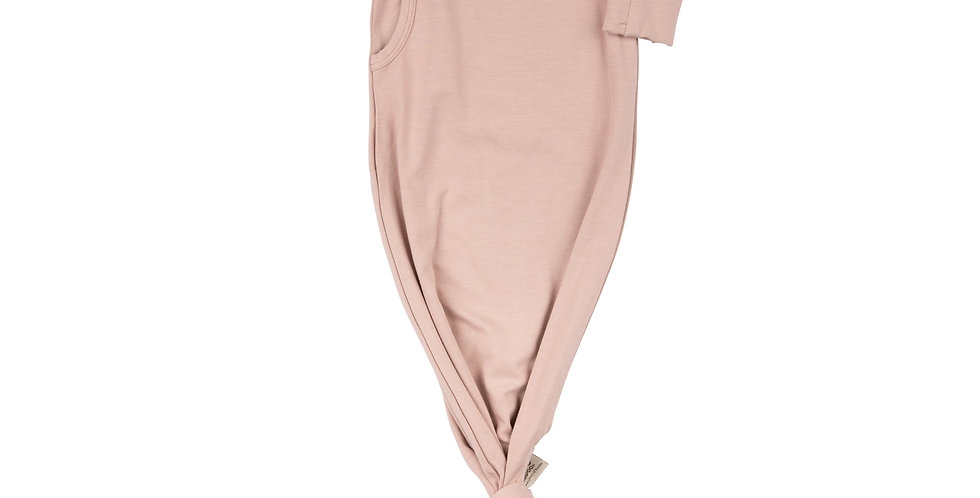 Timboo Knotted Baby Gown Mellow Mauve