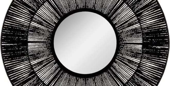 Atmosphera Spiegel Gevlochten Touw Zwart