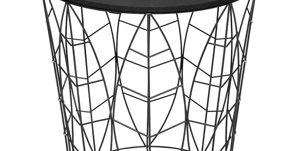 Atmosphera Bijzettafel met dienblad zwart
