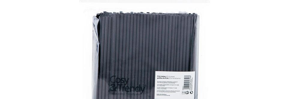 Cosy & Trendy Eco Rietjes Zwart Set van 200